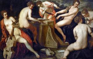 Women Making Music, Perhaps an Allegory of Music by Jacopo Robusti Tintoretto