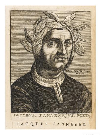 "Jacopo Sannazaro Italian Writer Known for His ""Arcadia"" Derived from Virgil-Nicolas de Larmessin-Giclee Print"