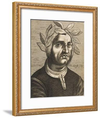 "Jacopo Sannazaro Italian Writer Known for His ""Arcadia"" Derived from Virgil-Nicolas de Larmessin-Framed Giclee Print"