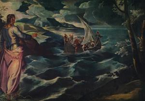 'Christ at the Sea of Galilee', c1575-1580. by Jacopo Tintoretto