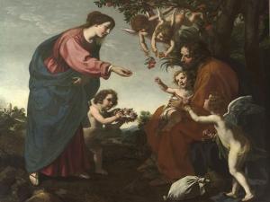 Le Repos pendant la fuite en Egypte by Jacopo Vignali