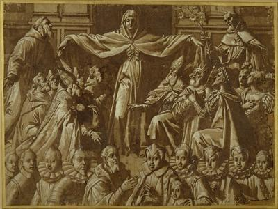 The Madonna Della Misericordia with Sts. Francis and Dominic, with Other Saints and Rulers and a…