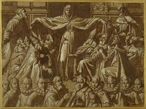 The Madonna Della Misericordia with Sts. Francis and Dominic, with Other Saints and Rulers and a… by Jacopo Zucchi