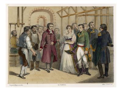 Jacquard and Napoleon--Giclee Print