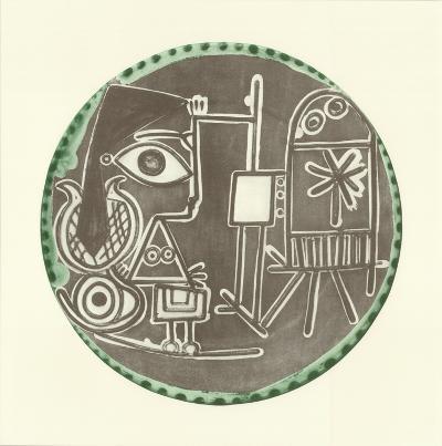 Jacqueline au Chevalet-Pablo Picasso-Art Print