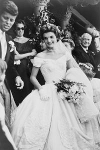 Jacqueline Bouvier Kennedy Emerging from St. Mary's Church on Her Wedding Day, September 12, 1953
