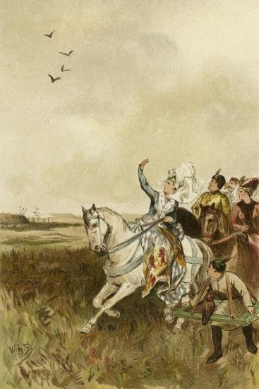 Jacqueline, Countess of Hainaut Hunting with Falcons-Willem II Steelink-Giclee Print
