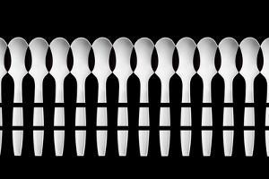 Spoons Abstract Fence by Jacqueline Hammer