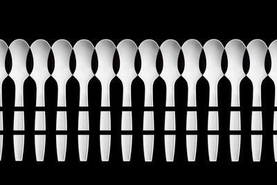 Spoons Abstract Fence