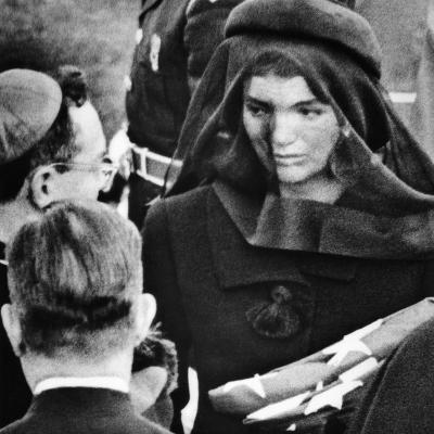 Jacqueline Kennedy at President John Kennedy's Funeral--Photo