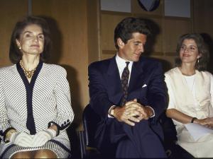 Jacqueline Kennedy Onassis and Her Children John F. Kennedy Jr. and Caroline Kennedy Schlossberg