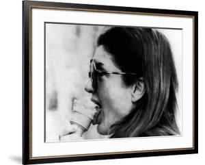 Jacqueline Kennedy Onassis Licks Ice Cream Cone While Shopping in Portofino, Italy, Jun 14, 1971