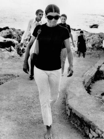 Jacqueline Kennedy Onassis on Vacation in Capri, Italy
