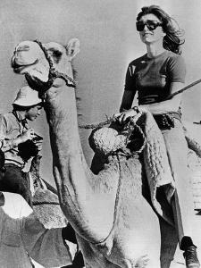 Jacqueline Kennedy Onassis Riding a Camel While on Vacation in Egypt, March 28, 1974