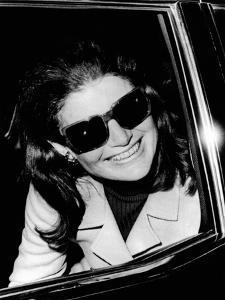 Jacqueline Kennedy Onassis Talks with Newsman, Logan International Airport, Apr 26, 1970