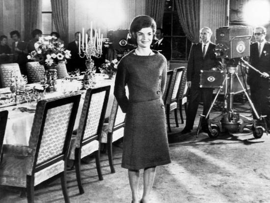 Jacqueline Kennedy State Dining Room During A Taped Tour Of The White House January 15 1962