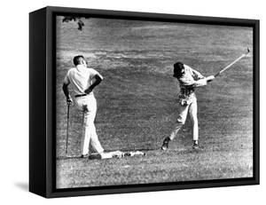 Jacqueline Kennedy Taking Lesson from Golf Pro Henry Lidner at Newport Country Club, Sept 13, 1962