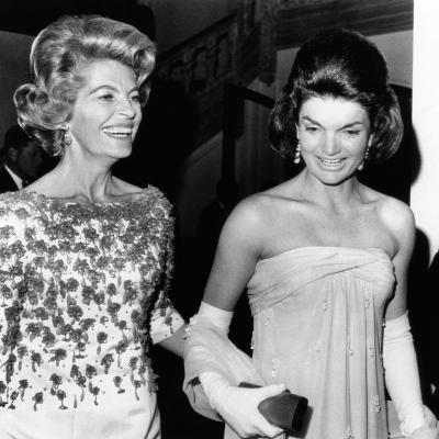 Jacqueline Kennedy with the Wife of the French Ambassador, Nicole Alphand--Photo