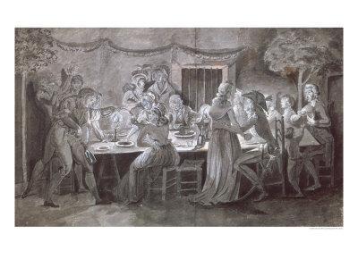 An Evening Wedding Meal