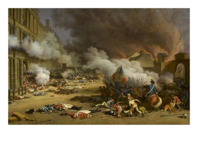 Prise du palais des Tuileries, cour du Carrousel, 10 août 1792