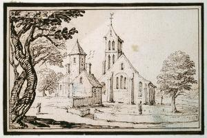 A Church in Lorraine and a Neighbouring Building by Jacques Callot