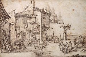 A Italian Farmyard by Jacques Callot