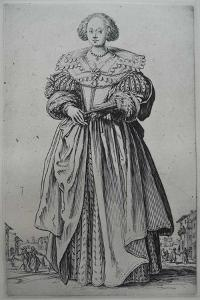 A Lady by Jacques Callot