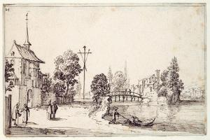 A Road Along the River Bank by Jacques Callot