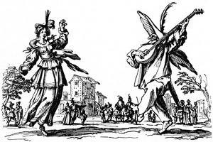 Balli di Sfessania - from etchings by Jacomo Callot by Jacques Callot