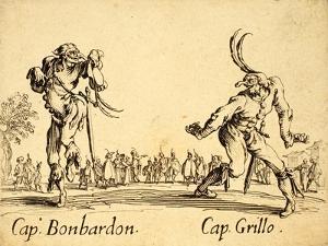 Captains Bonbardon and Grillo, 1622 by Jacques Callot