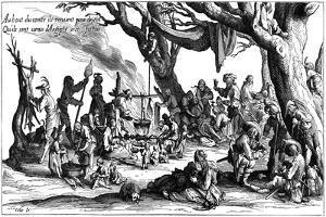Encampment of Central European Gypsies also known as Egyptians, 1604 by Jacques Callot