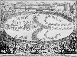 Entrance of Prince of Urbino at festival by Jacques Callot