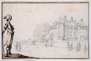 La Romaine, the Property of Claude Deruet by Jacques Callot