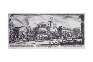 Looting of Village During War of Monferrato by Jacques Callot