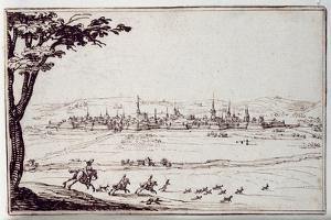 Nancy in the Distance: Harriers Pursuing a Hare by Jacques Callot