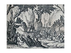No. III. -St. John Preaching, 1635, (1924) by Jacques Callot