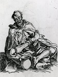 Seated Beggar by Jacques Callot