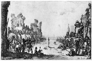St Sebastien, C1605-1630 by Jacques Callot