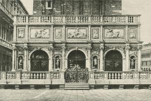 The Loggia of the Bell Tower in Venice, 1886, Italy by Jacques Callot