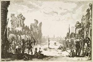 The Martyrdom of St Sebastian by Jacques Callot