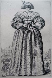 The Masked Lady by Jacques Callot