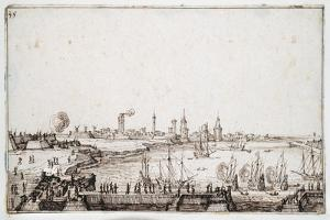 View of the Harbour of La Rochelle with Galleons Firing a Salute by Jacques Callot