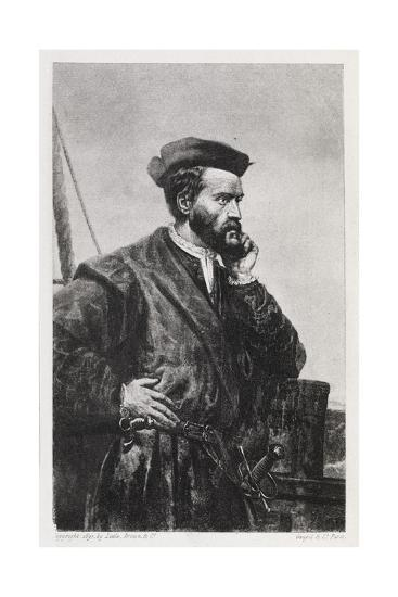Jacques Cartier, French Explorer-Middle Temple Library-Giclee Print