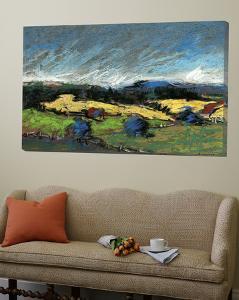 Pastel Landscape II by Jacques Clement