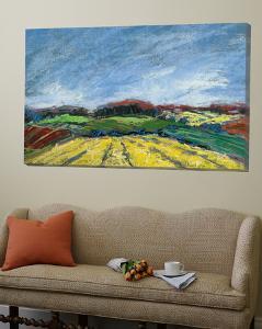 Pastel Landscape by Jacques Clement