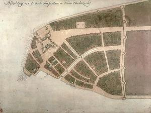 View of New Amsterdam, Costello Plan, 1660 by Jacques Cortelyou