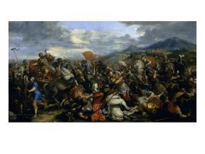 Alexandre le Grand, vainqueur de Darius à la bataille d'Arbelles (331 av. J.-C.) by Jacques Courtois