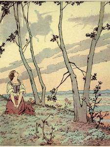 Joan of Arc Hears Heavenly Voices in the Forest by Jacques de Breville