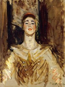 Nijinsky in Les Orientales by Jacques-Emile		 Blanche