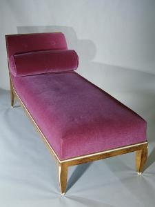 Art Deco Style Bed with Headrest, 1916 by Jacques-emile Ruhlmann